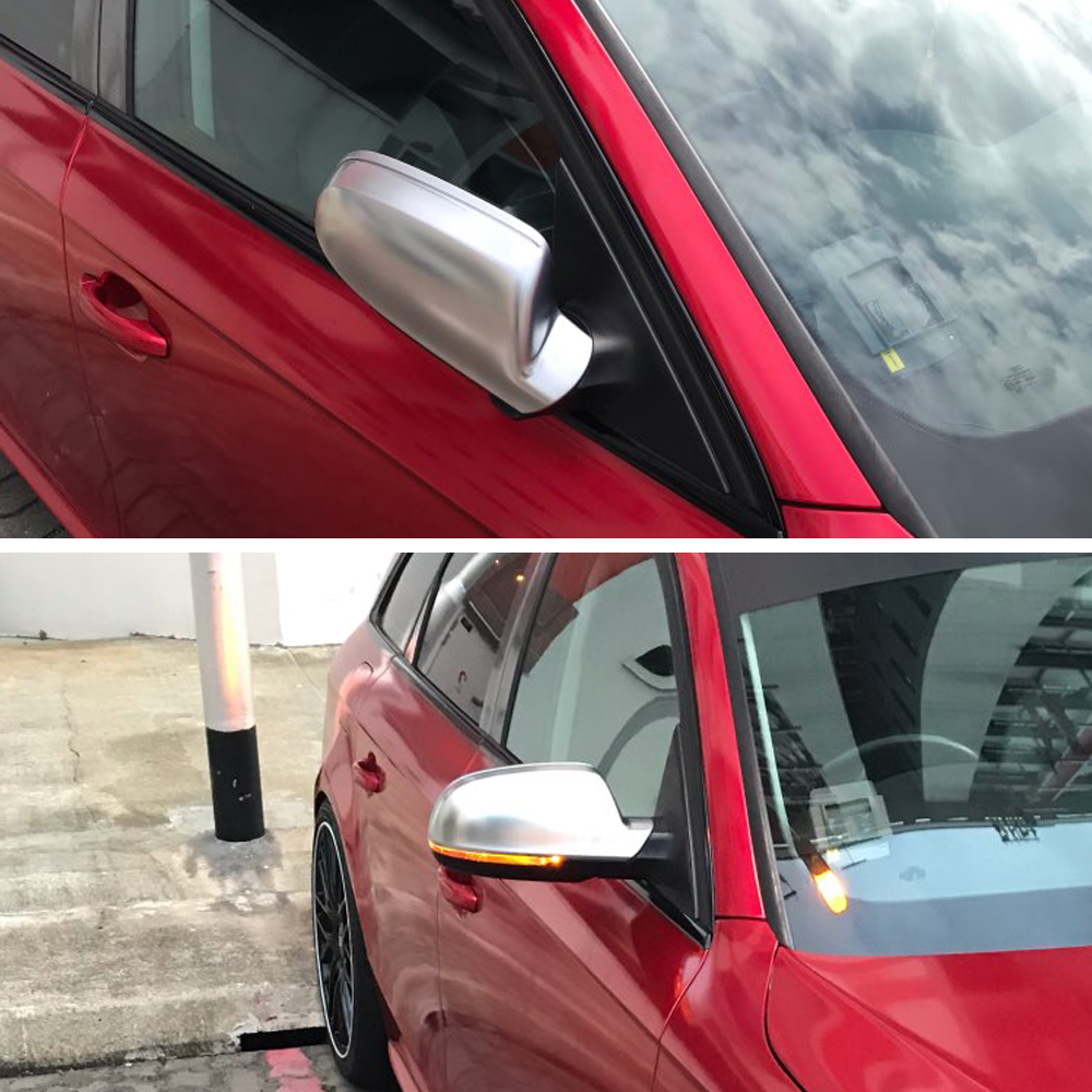 For Audi A3 A4 A5 B8.5 B8K 2011-2016 8F0857527B 8F0857528B Matt Chrome Mirror Cover Rearview Side Mirror Cap S Line