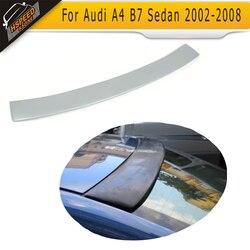 Szary PU samochodów tylny spoiler dachowy wargi skrzydło dla Audi A4 B7 salony kosmetyczne 2002 2008 w Spoilery i skrzydła od Samochody i motocykle na