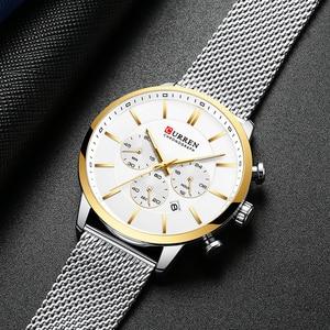 Image 4 - 2019 New CURREN Watch Men Chronograph Quartz Business Mens Watches Top Brand Luxury Waterproof Wrist Watch Reloj Hombre Saat