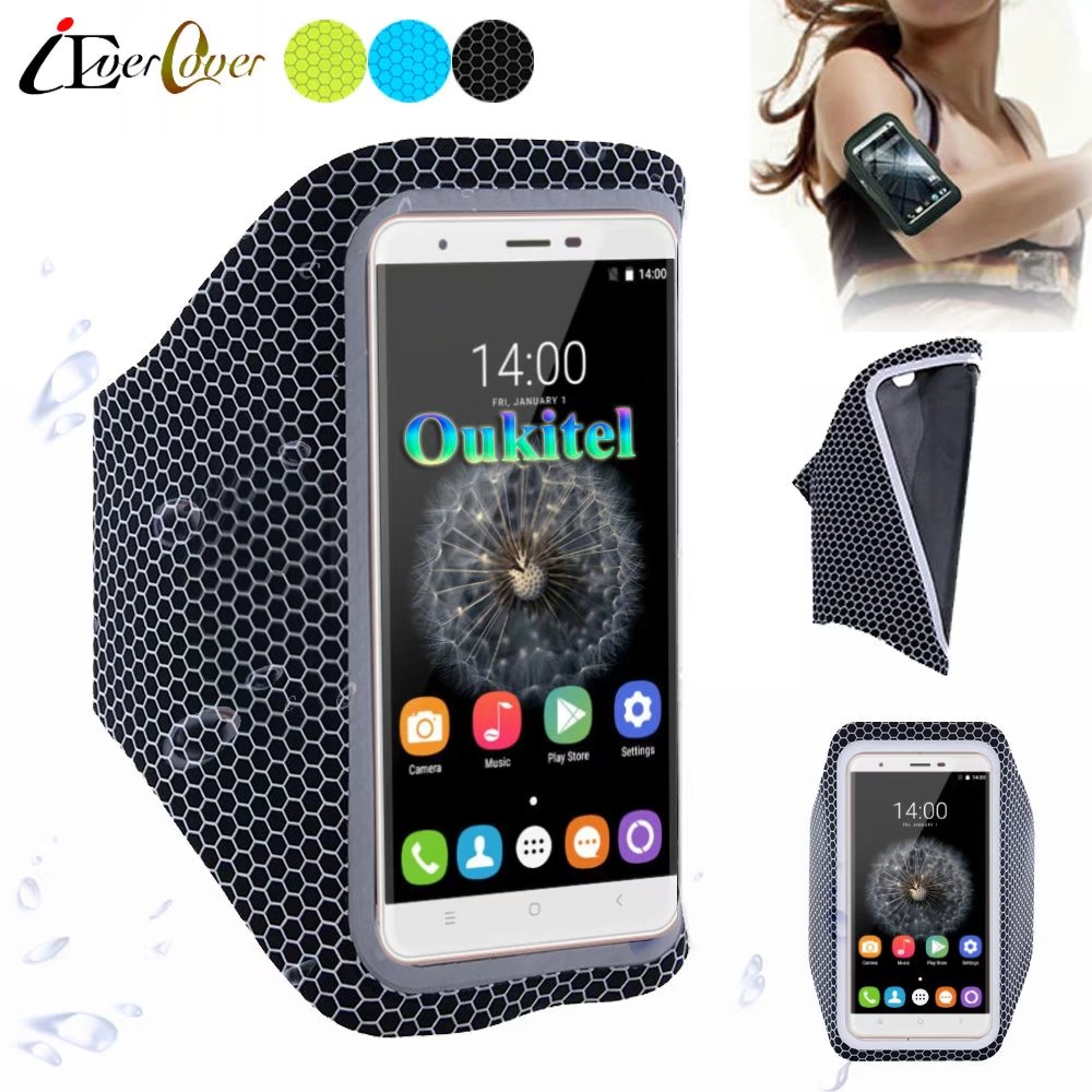 Sport Running Ultra Light Arm Band Cover Case For Oukitel K4000 Plus / Lite  / Pro , K7000 , C3 C4 C5 / C5 Pro Phone Pouch Bag