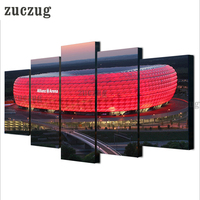 5 Panel Bayern Munich Allianz Arena Wall Art Picture Home Decoration Living Room Canvas Print Wall
