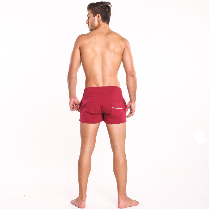 Taddlee Brand Sexy Mens Sports Running Short Shorts Cotton Red Pockets Gym Training Big Soft Low Rise Boxer Trunks Bottom