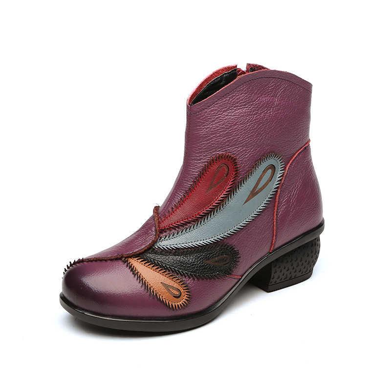 Xiuteng 2019 Hakiki Deri Kadın Botları Kış sıcak yarım çizmeler Kadın Kış Ayakkabı kısa Peluş Astarı