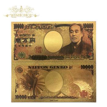 Złoto 777777 Wishonor najlepsza cena za kolor japonia złote banknoty 10000 jenów banknot w 24 k złoto papierowe pieniądze dla kolekcja tanie i dobre opinie Patriotyzmu Pozłacane Antique sztuczna FGHGF 7days after you paid Japan Souvenir collection Gold