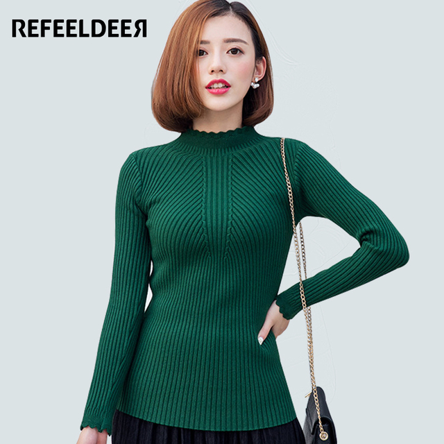 New Arrivals Women Sweaters And Pullovers 2016 Autumn Winter Sweater Pullover Female Long Sleeve Warm Striped Jumper Pull Femme