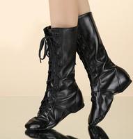 2018 Yeni PU Deri Caz Dans Ayakkabıları Yüksek Kalite Dantel-up Dans Ayakkabı Erkekler ve Kadınlar için Fabrika Dropshipping siyah Renk