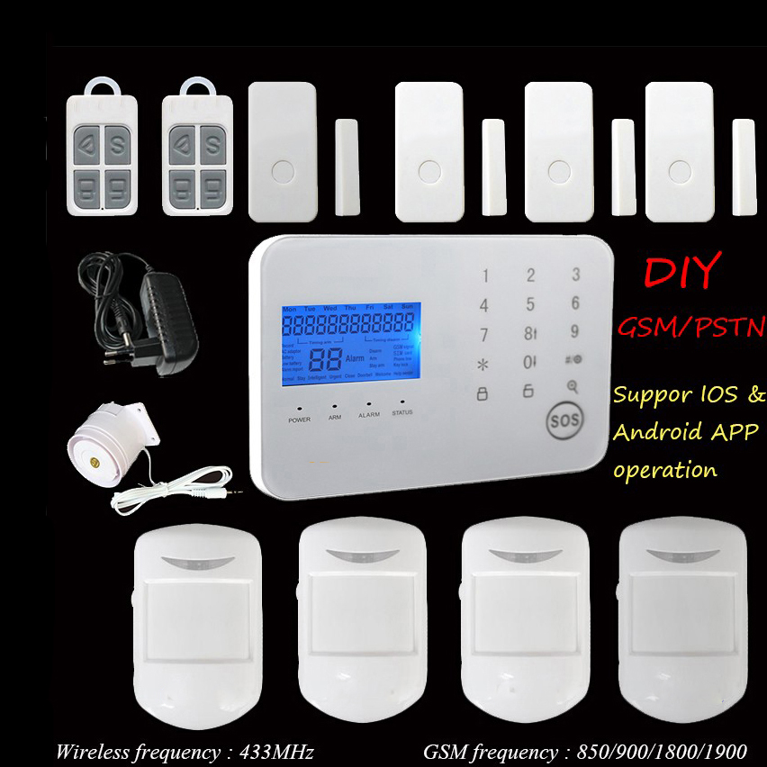 2018 Alarm Systems Security Home Android IOS Smart Phone App Home Security GSM Alarm System Wireless Motion Sensor