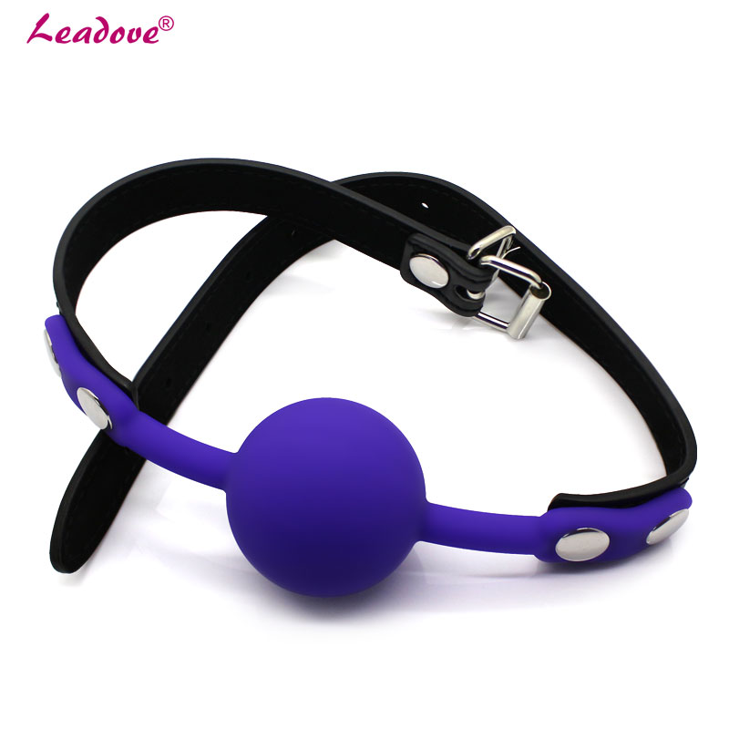 Hot Stuffed Soft Silicone Oral Fetish Open Mouth Gag Ball Sex Bondage Restraints Adult Sex Toys