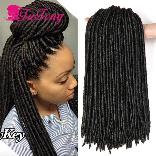 18 Inch Faux Locs Crochet Braid Hair Dreadlocks Braids Havana Mambo