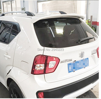 For SUZUKI Ignis Spoiler 2016 2017 2018 ABS Plastic Unpainted Primer Color Rear Trunk Boot Wing Spoiler Car Styling