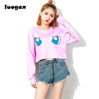 Pokemon Costume Autumn Harajuku T Shirt Women Long Sleeve Crop Top Casual O Neck T Shirts