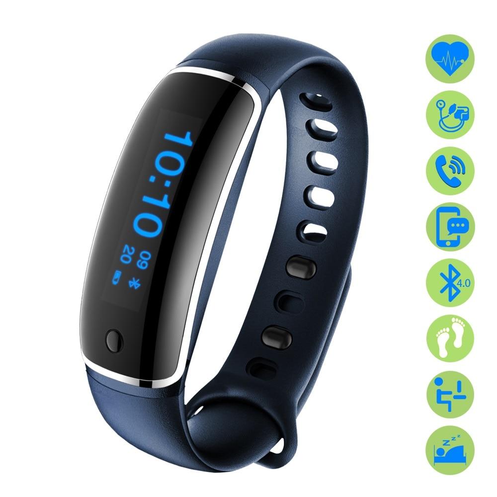 Smart Fitness Bracelet Pulsometer Blood Pressure Meter V8 Smartband Pedometer Bangle Band Heart Rate Monitor Men