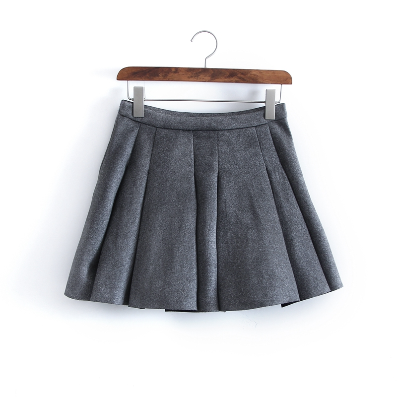 Gray Pleated Skirt Promotion-Shop for Promotional Gray Pleated ...