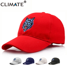 c7cf7ae0b2c7b CLIMATE WOW Werewolf Timber Forest Wolf Head Baseball Caps Embroidery  Adjustable Red Black Cotton Sport Hat
