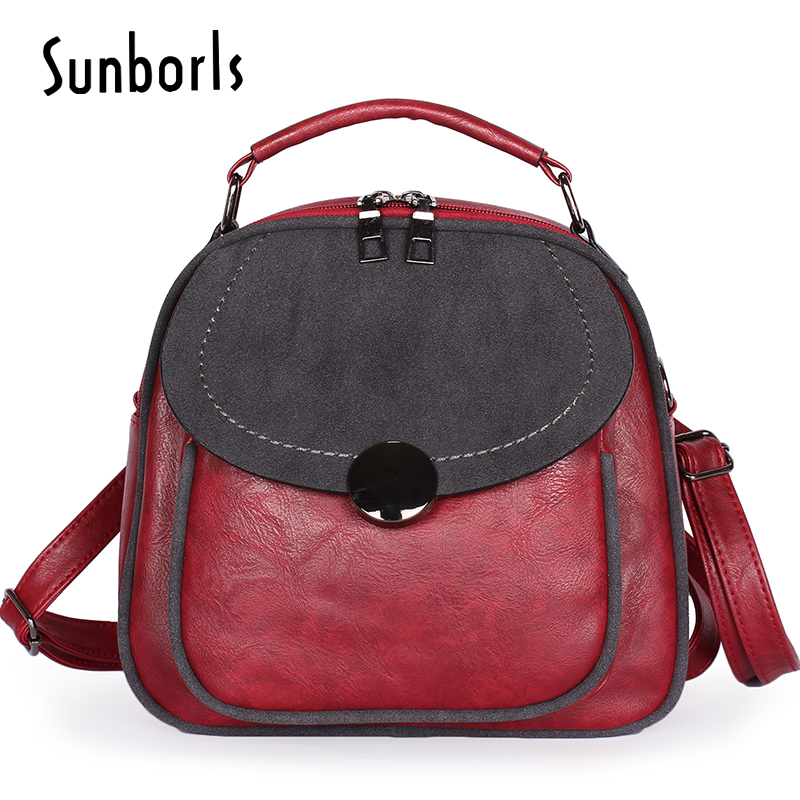 Fashion Leisure Women Backpacks Women's Leather Backpacks Female school Shoulder bags for teenage girls Travel Back pack 1v1194