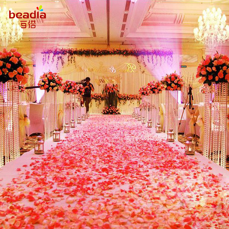 500pcs/Lot Wedding Events Decoration Silk Rose Petals