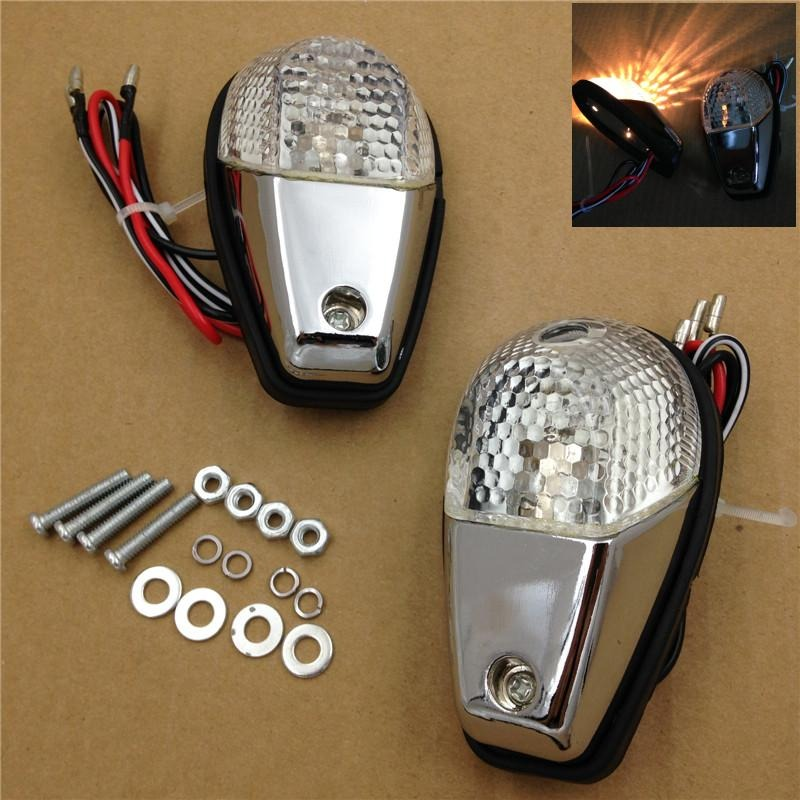 Aftermarket free shipping motorcycle parts Clear Flush Mount Turn Signals Blinker Light for Yamaha universal sportbikes