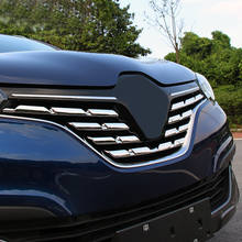 Fit For Renault Kadjar 2015 2016 2017 Chrome Front Mesh Grille Bumper Cover Trim Insert Bonnet Garnish Molding Guard Protector цена