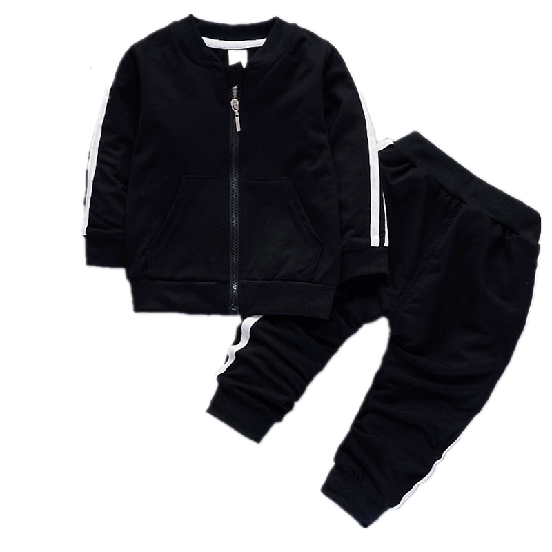 Fashion Spring Autumn Baby Boys Girls Cotton Jacket Pants 2pcs/sets Infant Tracksuit Kids Clothing Suts Children Zipper Clothes