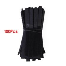 Горячие KSOL 100 шт Кабельные стяжки черный ремешок нейлон 130x10 мм