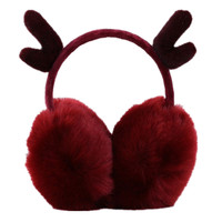 2018 New Lovely Cute Antlers Fur Winter Earmuffs For Women Warm Earmuffs Ear Warmers Gifts For