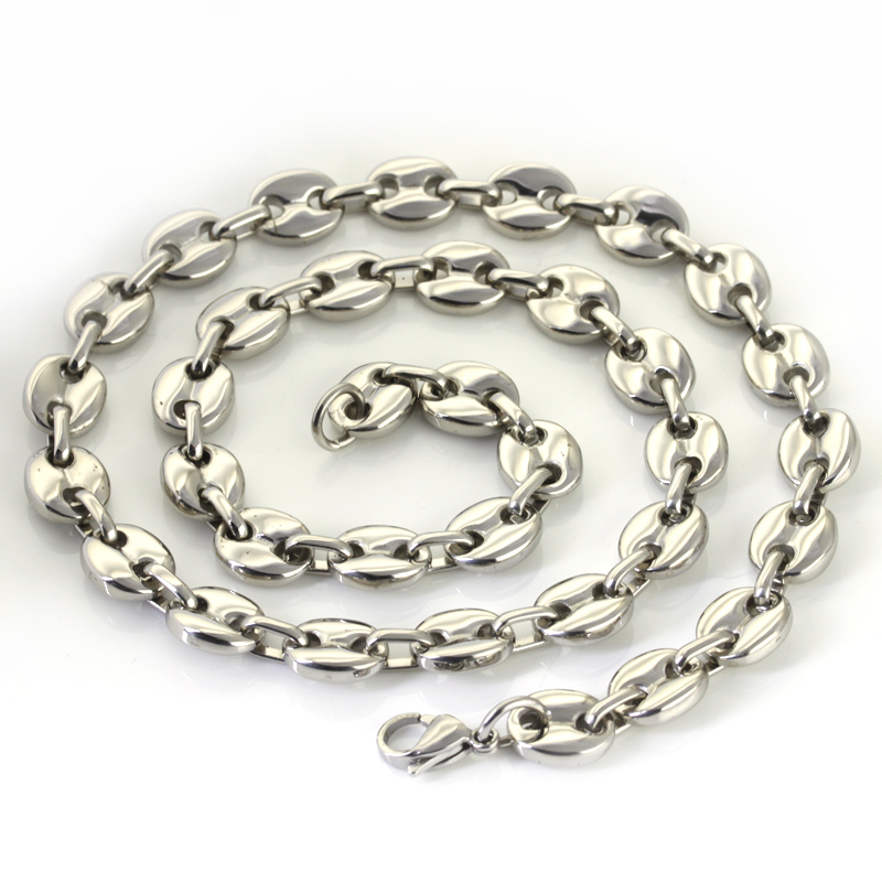 Wholesale Retail! 56cm*10.5mm 82g New Design Stainless Steel Silver Link Chains Neklace Men/ Boy, Lowest Price Best Quality