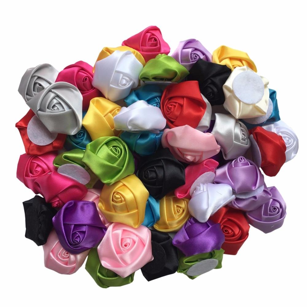 Online get cheap handmade fabric flowers aliexpress alibaba 50 pcslot handmade mini fabric roses flowers for diy fitting kids hair band girls dhlflorist Choice Image