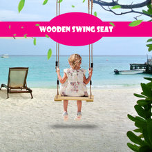 Safety Swing Chair Outdoor Adult Kids Tree Swing Seat Kids Trapeze Chair  Wooden Hanging Seat Playground Backyard Swing With Rope