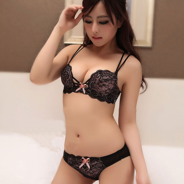 Aliexpress.com : Buy new fashion women sexy chiffon lace bra set ...