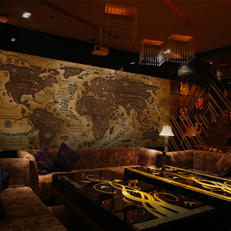 Custom retro world map clouds large mural bedroom living room sofa TV 3D wallpaper retro 3D wallpaper hotels