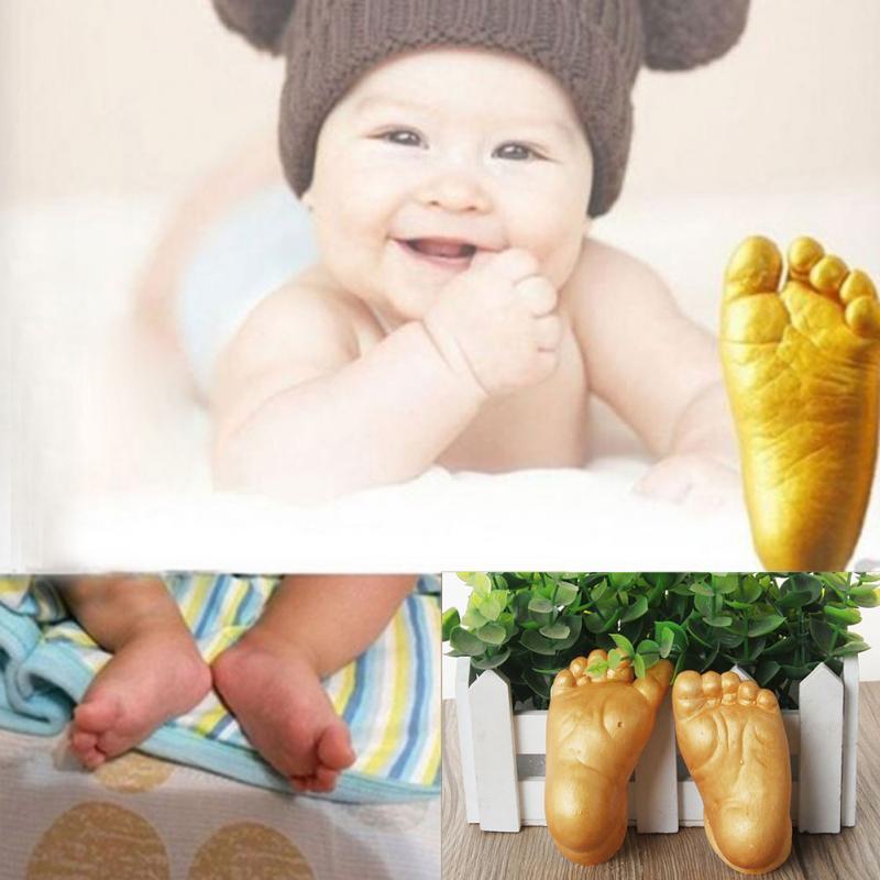 Baby 3D Hand And Foot Print Plaster Casting Kit Handprint Footprint Naissance Gift