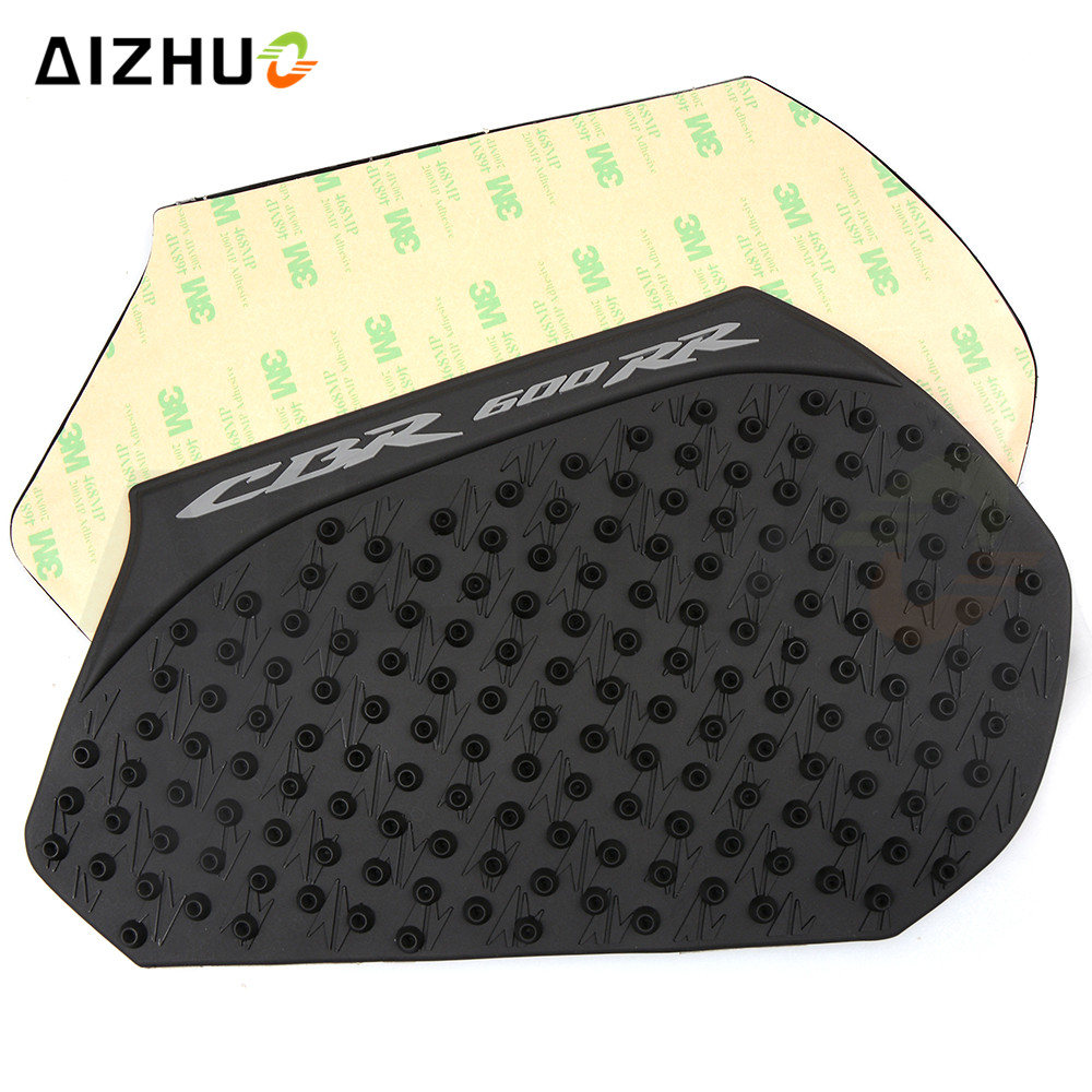 motorcycle Accessories high quality Rubber oil tank Stickers Decorative motor fuel gas tank pad for Honda cbr CBR600RR 2013 2016 in Decals Stickers from Automobiles Motorcycles