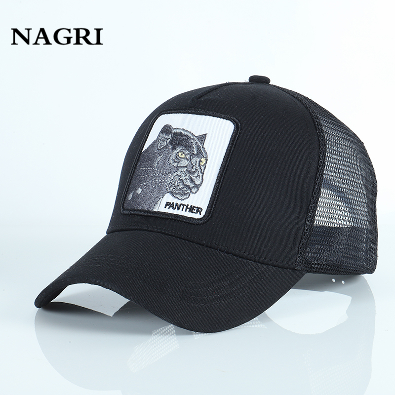 Embroidery Animal   Baseball     Caps   Men Mesh Breathable Snapback Bone Summer Adjustable Sports Trucker Brand   Cap   Gorras Animales