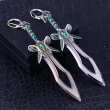 Dota 2 Butterfly Sword Model Keychain 2 Style Zinc Alloy Keyring Men Women Accessories Jewelry все цены