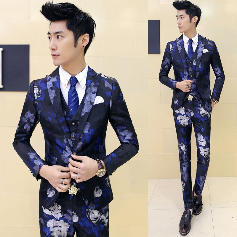 Aliexpress.com : Buy Skinny Suit Pants For Men 2016 New 3pcs ...