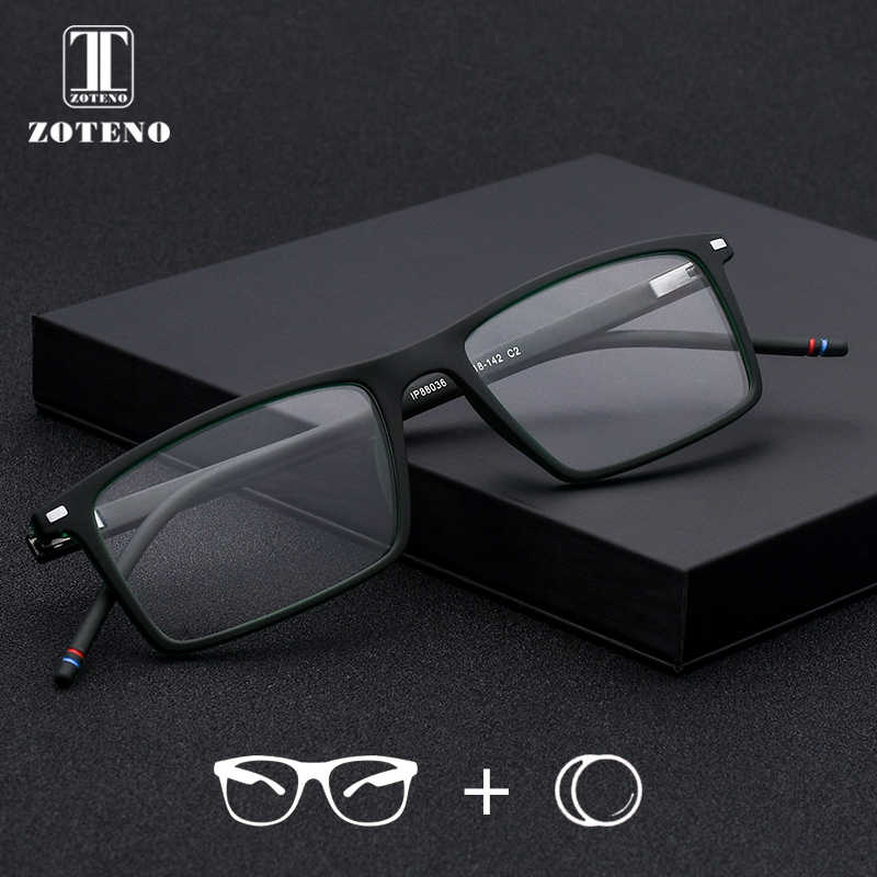 TR90 Prescription Eyewear Vintage Retro Brand Designer Rivet Computer Optical Myopia Clear Prescription Glasses For Men #88036