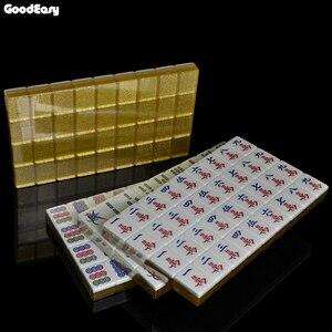 Image 2 - חם למכור 40mm יוקרה ונג סט כסף & זהב משחקי משחקי הבית הסיני מצחיק משפחת שולחן לוח משחק מתנה נפלאה