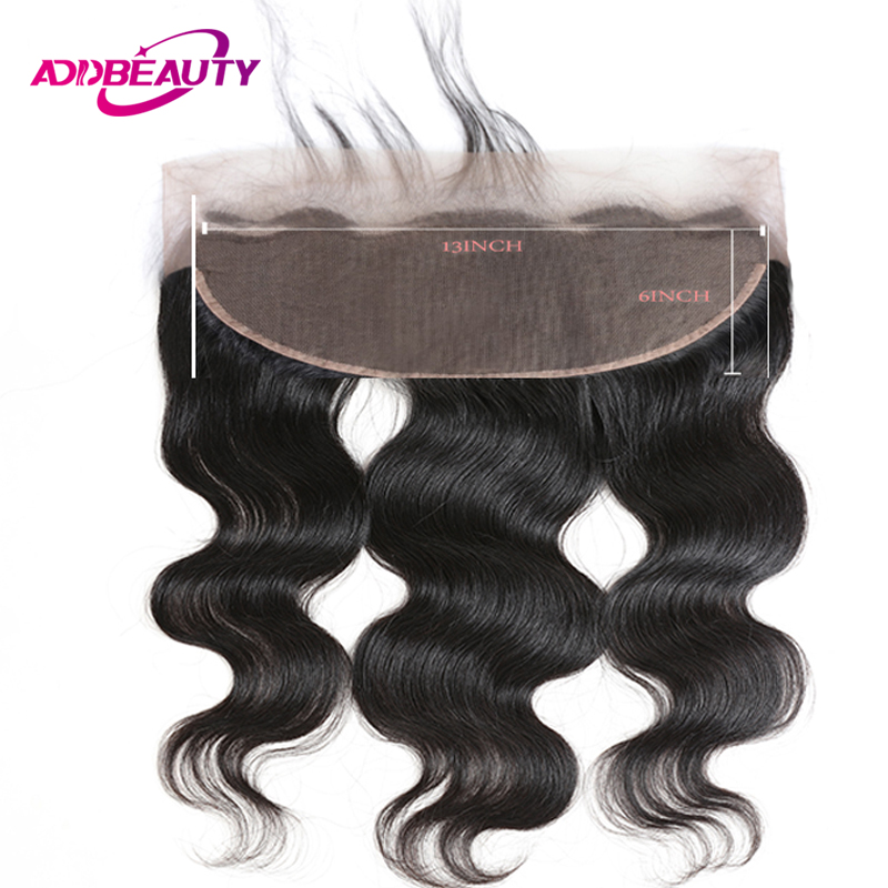 13x6 Lace Frontal Closure Body Wave Brazilian Unprocessed Virgin Human Baby Hair 130% Density Ear To Ear Free Part Pre Plucked
