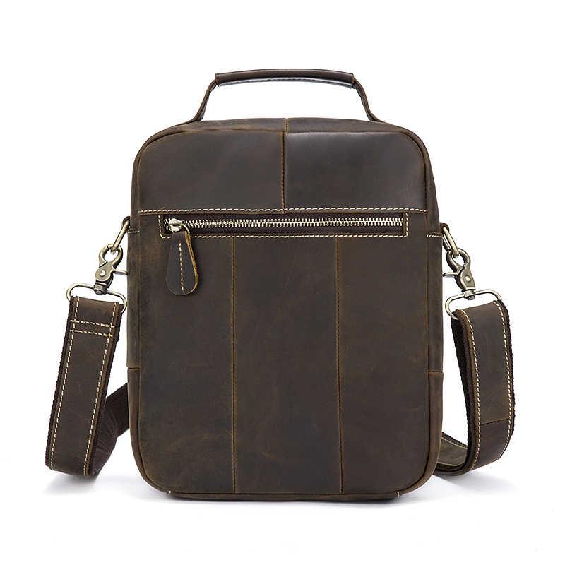 44f2fcf37f07 ... MVA Винтаж Crazy Horse Натуральная кожа Сумка топ-ручка Сумочка сумка  для документов через плечо ...