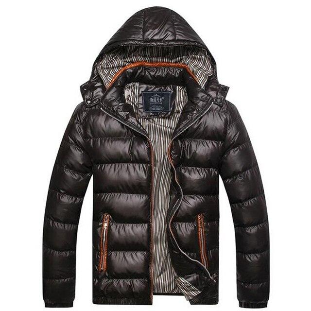 2016 Marca Quente Jaqueta de Inverno Dos Homens Quente Para Baixo Jaqueta Casual Parka Homens Jaqueta de Inverno acolchoado Ocasional Casaco de Inverno Bonito Para homens