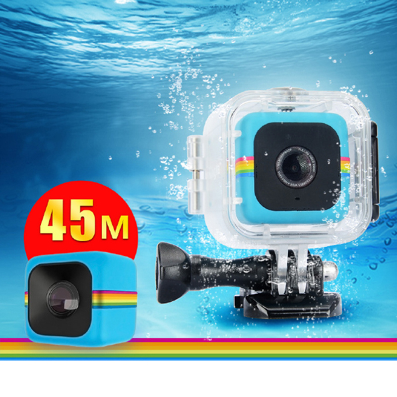 45M Waterproof Housing Protective Case for Polaroid Cube Action Camera polaroid joz 45 slr case сумка для фотокамеры