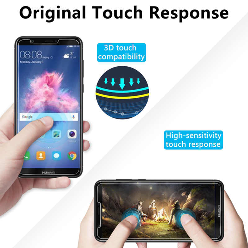 Half Cover Tempered Glass for Huawei Y9 2019 Y7 Prime 2018 Protective Glass for Huawei Y6 Pro 2019 Screen Protector on Y5 2018
