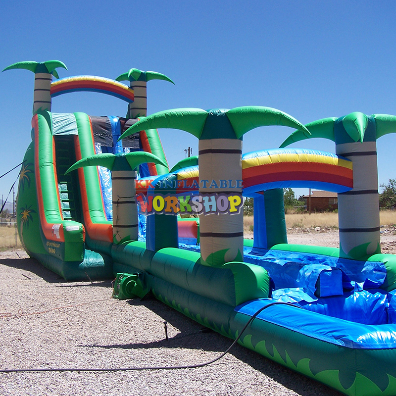 Large Water Park Facilities Sell Inflatable Long And Stimulating Water Slides