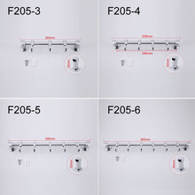 Frap Zinc Alloy Chrome-plated Clothes Hook Flexible Slide Bathroom Towel Hanger 4 Choices F205-3/4/5/6(China)