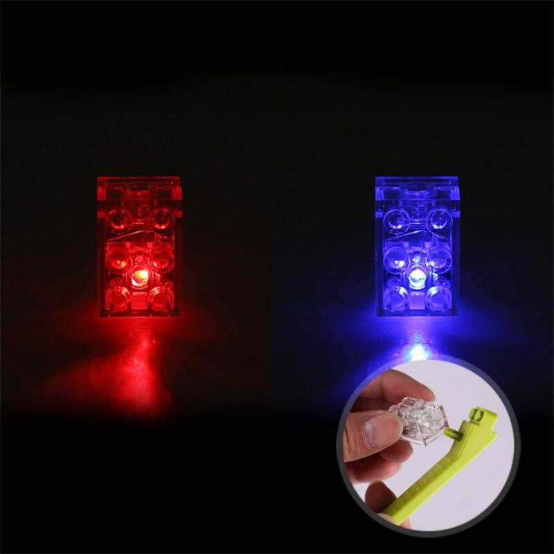 Светодиодный светильник строительные блоки кирпичи освещение Intellingence DIY детские игрушки - Цвет: red to blue