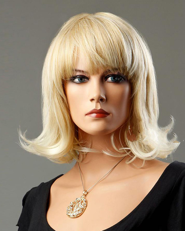 INHAIR CUBE Synthetic Blend Hair Women Wigs with Bangs
