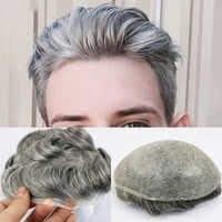Eversilky 0,03-0,04 Dünne Haut Toupet für Männer männer Haar Stück Ersatz System 1B65 Farbe Menschenhaar Herren perücke