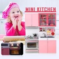 Plastic Furniture Kitchen Toys DIY Toy Kitchen Educational Mini Kitchen Play 1 Set Pretend Play Children Toys For Kids Kitchen