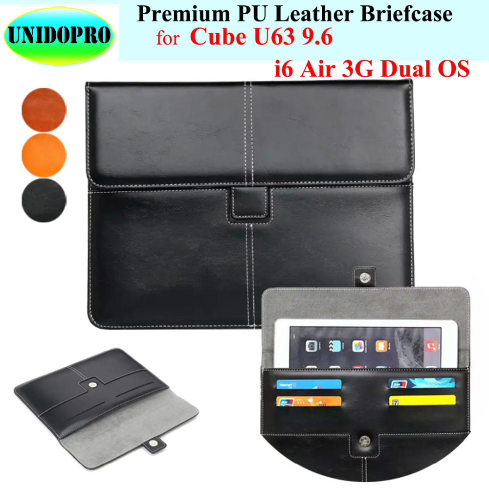 Premium PU Leather Slim Sleeve Bag for Cube U63, i6 Air 3G Dual OS, T9 Tablet Briefcase Pouch Case w/ Credit Cards Holder футболка wearcraft premium slim fit printio шварц