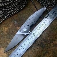 TwoSun pocket knife D2 Blade TS102 TC4 Titanium Handle Outdoor Camping Hunting Folding knife